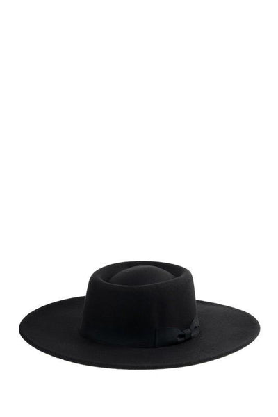 Felt Hat with Satin Band - Tres Chic Houston