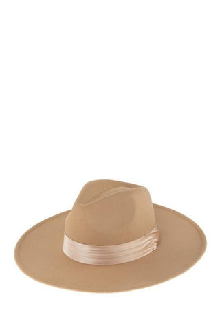 Felt Fedora with Satin