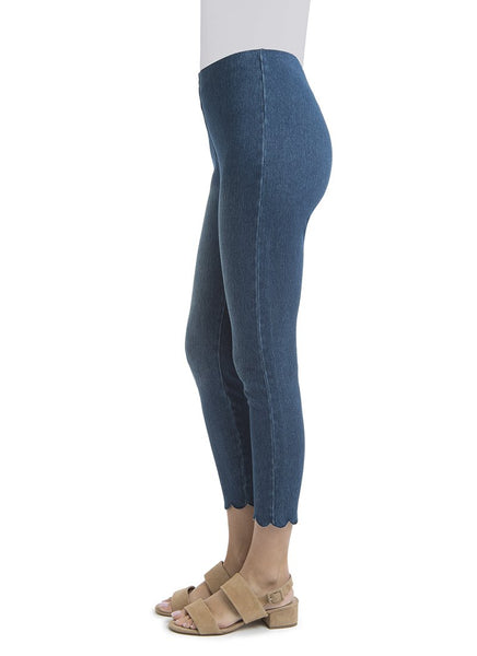 Scallop Edge Ankle Pant - Tres Chic Houston