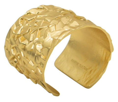 Gold Nuggets Textured Cuff