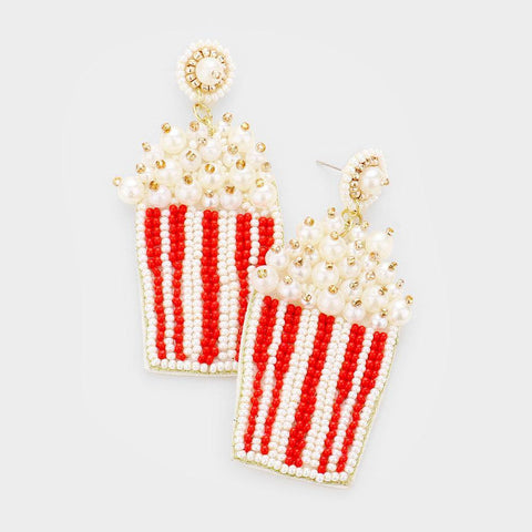 Beaded Popcorn Earrings