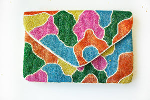 Multi Colored Beaded Clutch