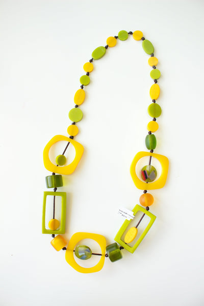 Resin Multi Shaped Necklaces - Tres Chic Houston