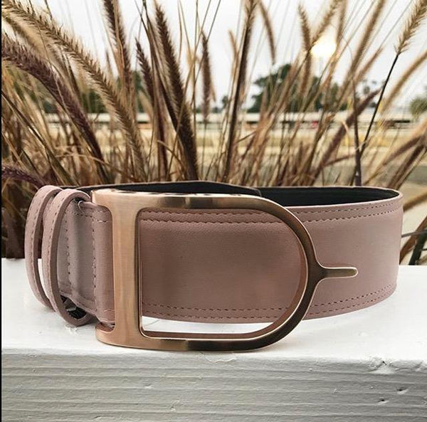 "2"" Wide Stirrup Buckle Belt - Tres Chic Houston"