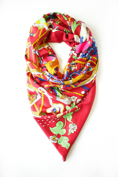 Bordeaux Printed Scarf