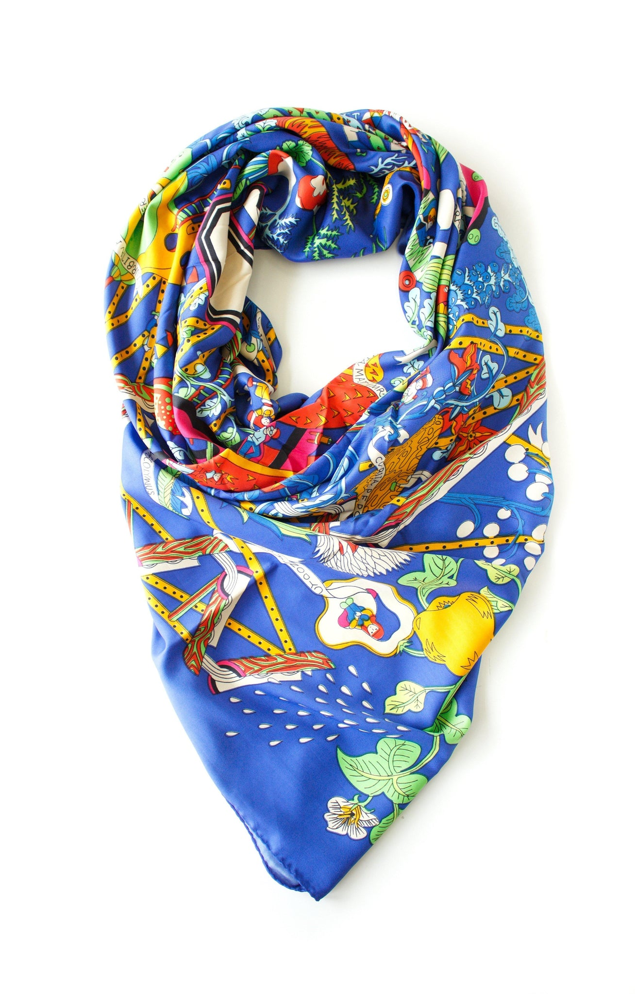 Bordeaux Printed Scarf - Tres Chic Houston