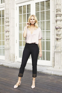 Black Cropped Crochet Up! Pants - Tres Chic Houston