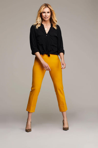 Dijon Cuffed Cropped Up! Pants - Tres Chic Houston