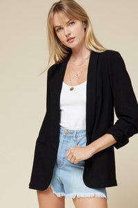 Shirred Blazer Jacket - Tres Chic Houston