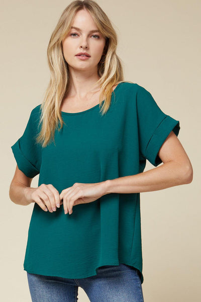 Cuff Sleeved Top - Tres Chic Houston