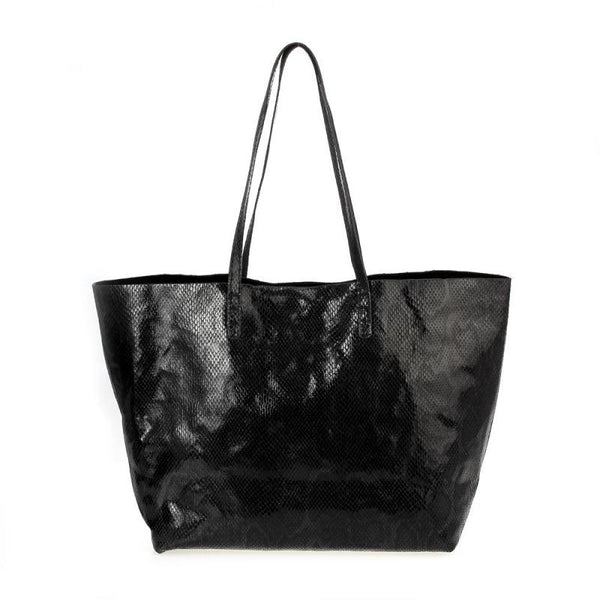 Snake Print Tote Bag - Tres Chic Houston