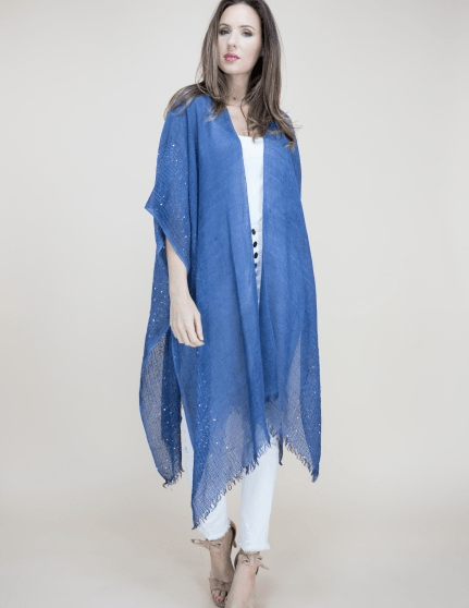 Sequin Detailed Crochet Kimono - Tres Chic Houston