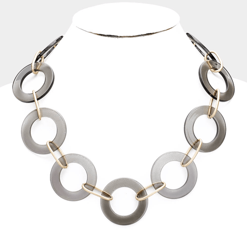 Resin Circle Necklace - Tres Chic Houston