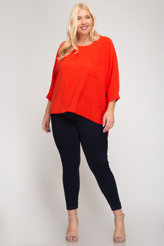 Dolman Sleeved Top - Tres Chic Houston