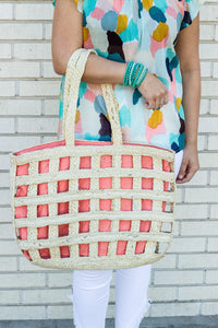 Woven Cutout Tote - Tres Chic Houston