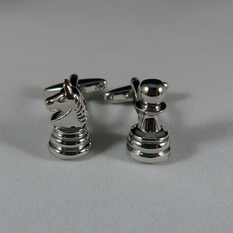22 - Chess Piece Cufflink Set