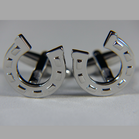 18 - Horseshoe Cufflink Set