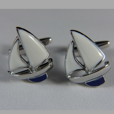 17 - Sailboat Cufflink Set