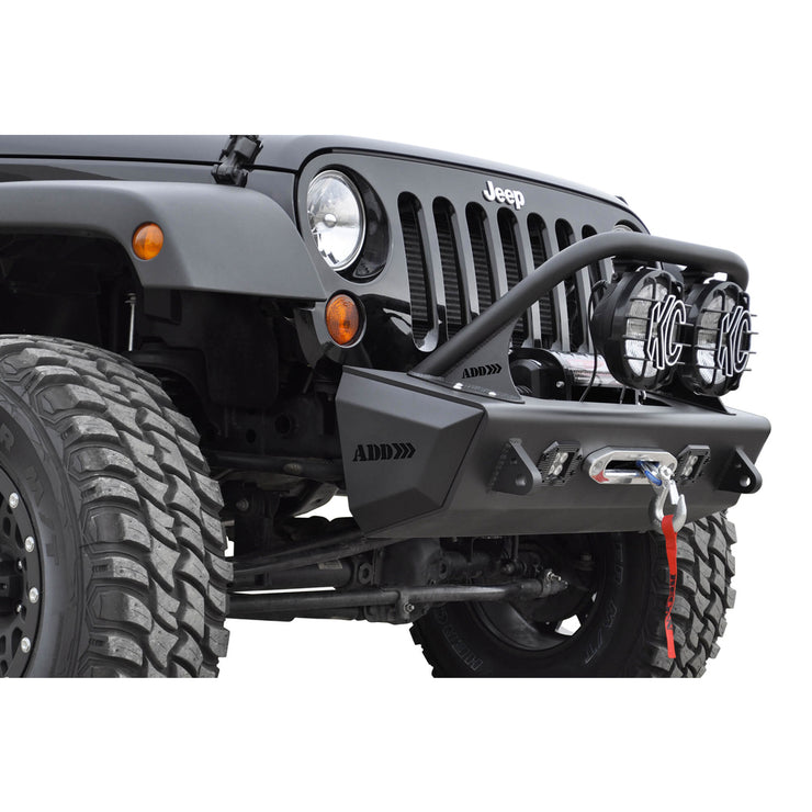 Addictive Desert Designs F9513610101NA Stealth Fighter for 6 Light Top Hoop for Jeep JK Wrangler