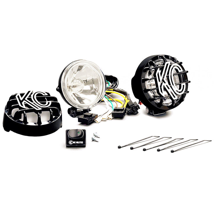 "4"" RALLY 400 HALOGEN PAIR PACK SYSTEM - BLACK"