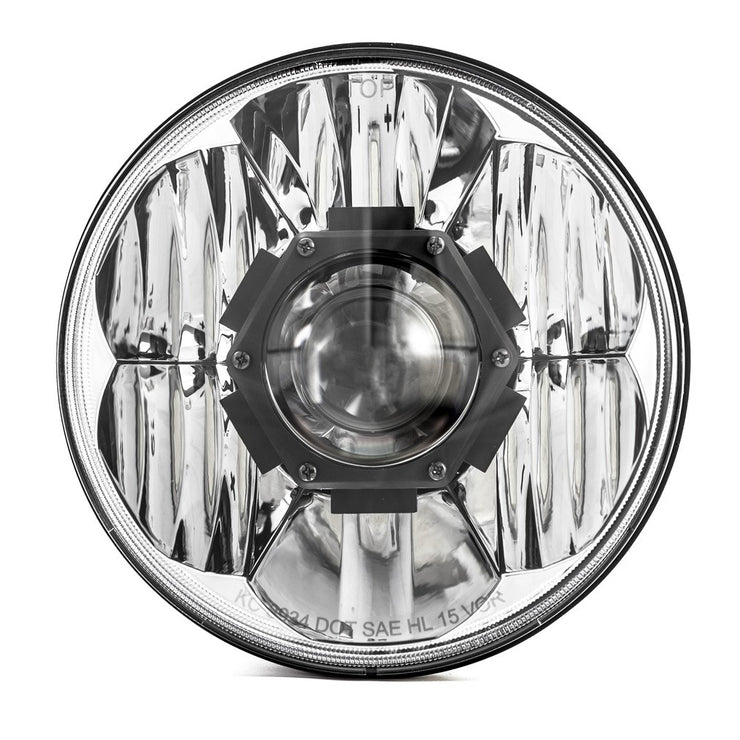 "GRAVITY® LED PRO 7"" HEADLIGHT DOT JEEP JK 07-18 PAIR PACK SYSTEM"