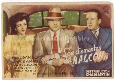 A Date with the Falcon Poster George Sanders Wendy Barrie