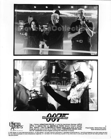 007 Tomorrow Never Dies Photo Michelle Yeoh Jonathan Pryce