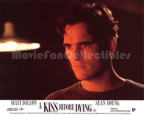 A Kiss Before Dying 8x10 Movie Lobby Card star Matt Dillon 1990 origin