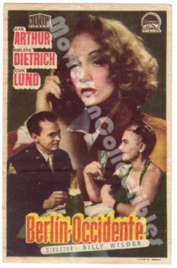 A Foreign Affair Berlin Occidente Mini Movie Poster Marlene Dietrich