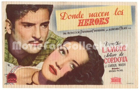 A Medal for Benny Donde nacen los Heroes Movie Poster Dorothy Lamour