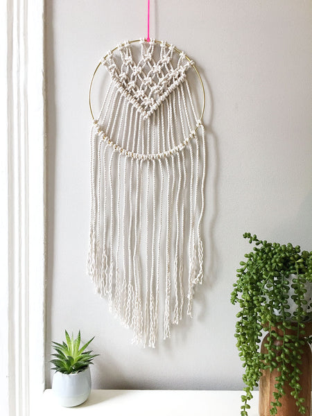 Diy Brass Ring Macrame Dream Catcher Brooklyn Craft Company