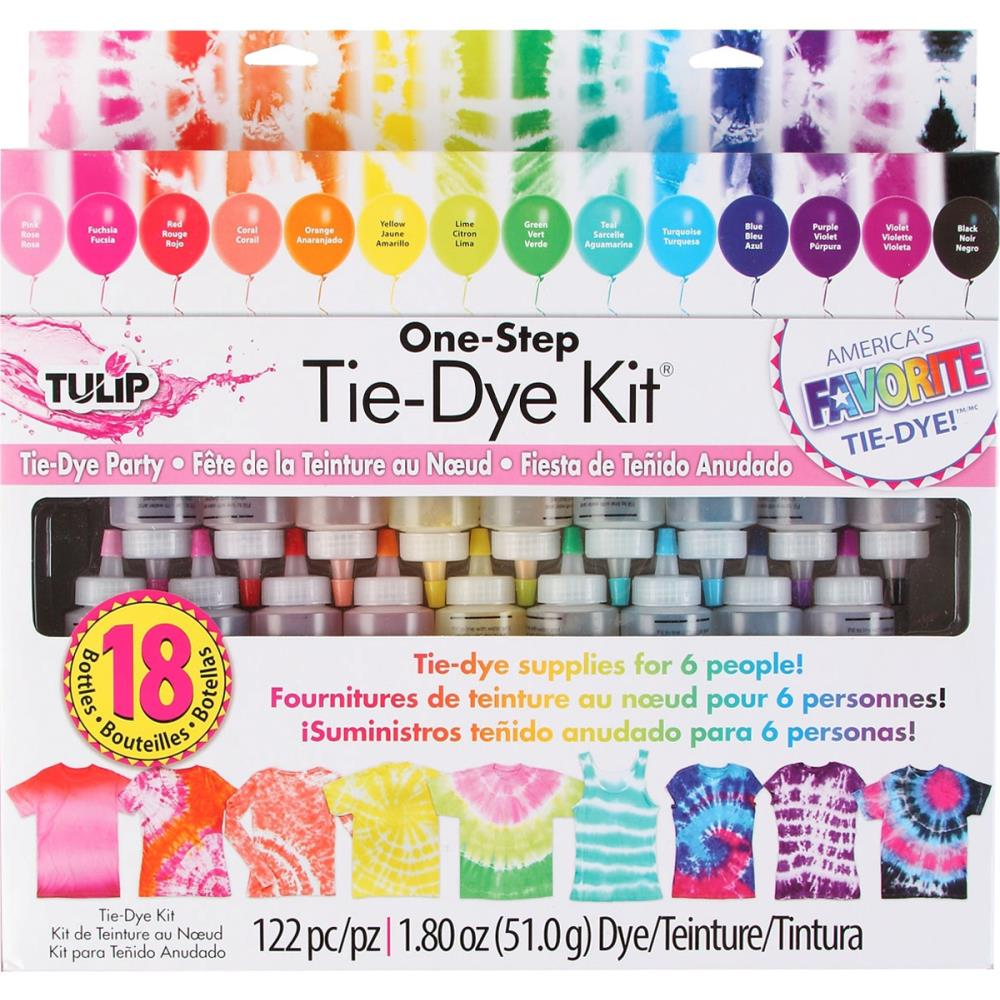 One-Step 18-Color Tie Dye Party Kit