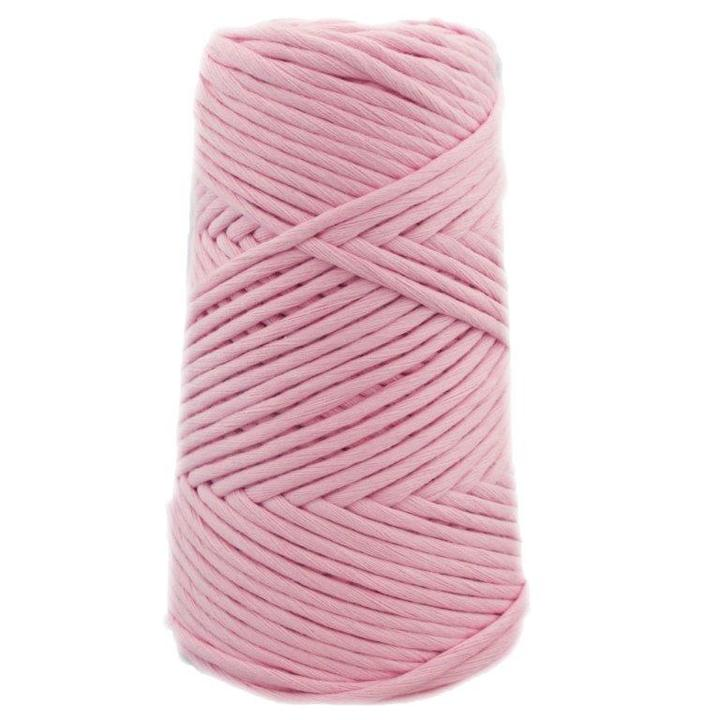 Soft Cotton Macrame Cord 4 mm - Baby Pink