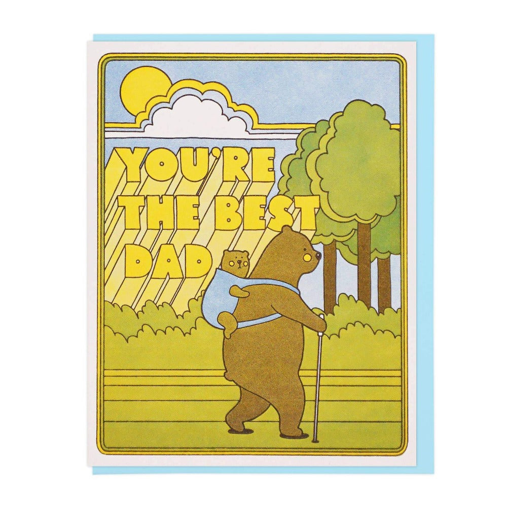 Best Dad Hiking Bears Card