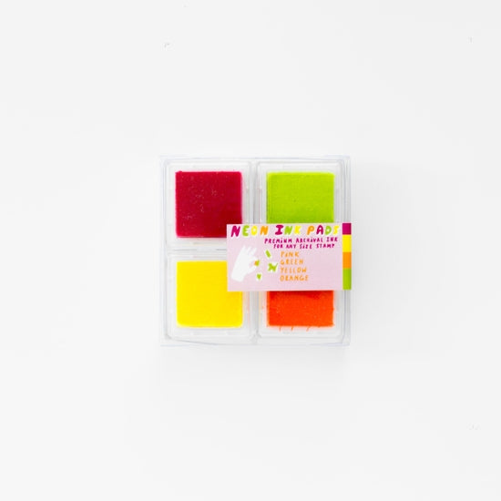Neon Pink Orange Green Yellow Chroma Ink Pad