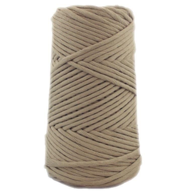 Soft Cotton Macrame Cord 4 mm - Taupe