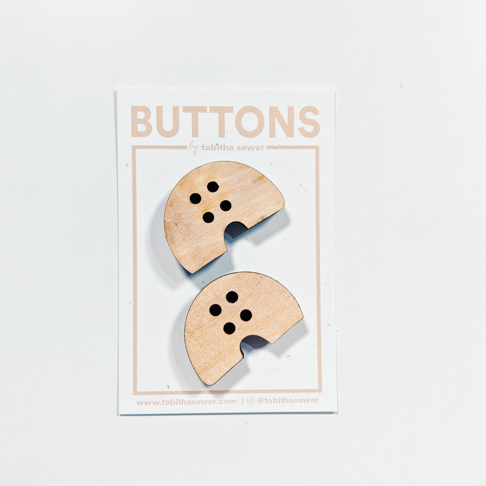 Large Wood Macaroni Buttons