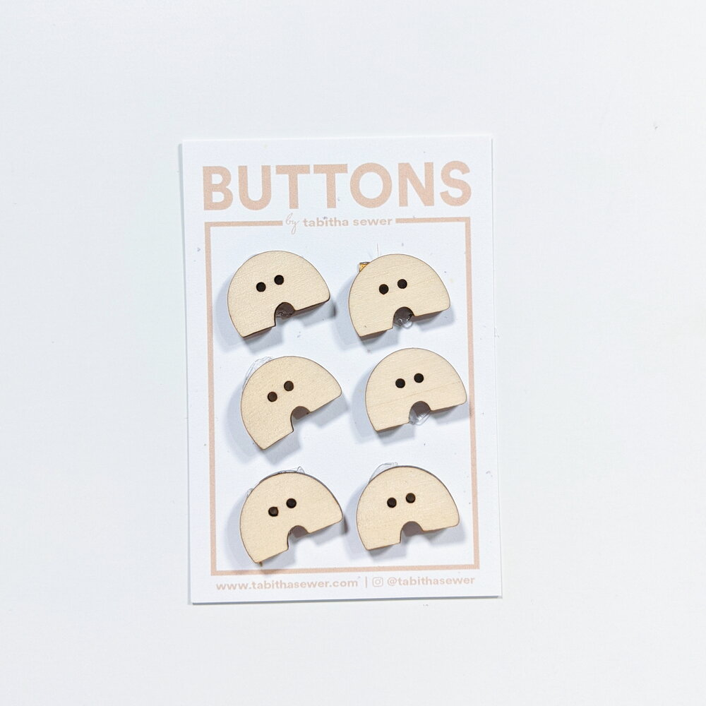 Small Wood Macaroni Buttons