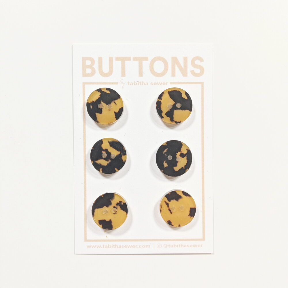 Small Tortoise Classic Circle Buttons - Copper