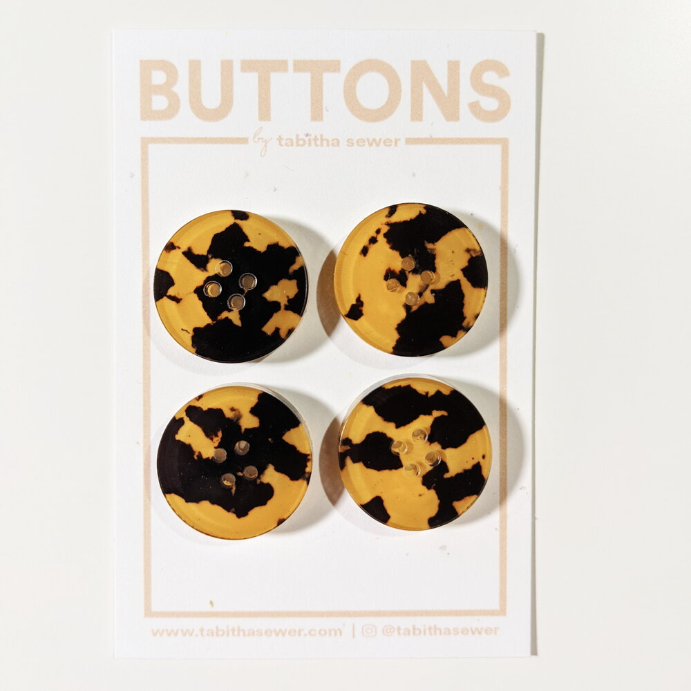 Large Tortoise Classic Circle Buttons - Copper