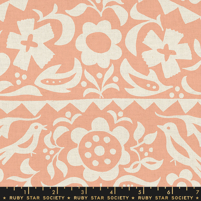 Alma Market Floral by Ruby Star Society in Peach