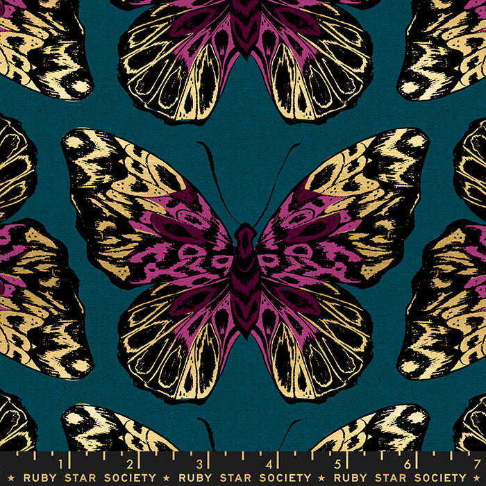 Tiger Fly By Ruby Star Society In Teal Canvas Brooklyn Craft Company