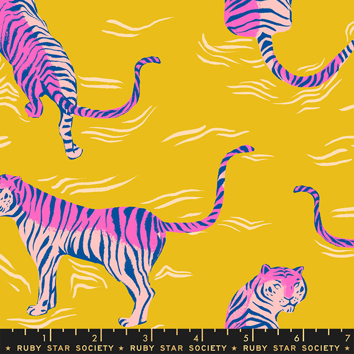 Tiger Fly Rayon by Ruby Star Society in Yellow