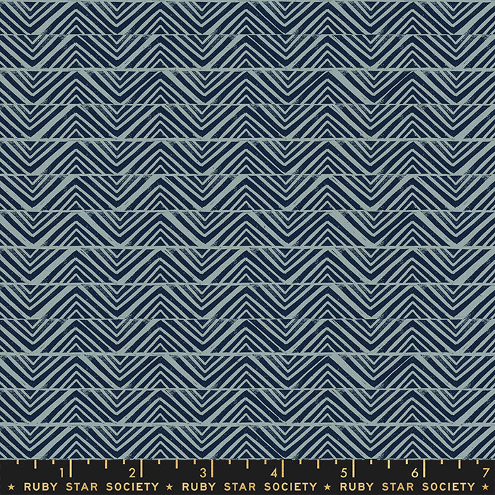 Golden Hour Mountain by Ruby Star Society in Blue Slate