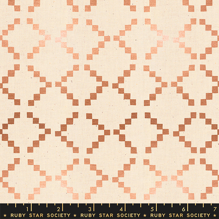 Golden Hour Tile by Ruby Star Society in Metallic Copper