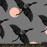 Florida Egrets by Ruby Star Society in Slate Gray
