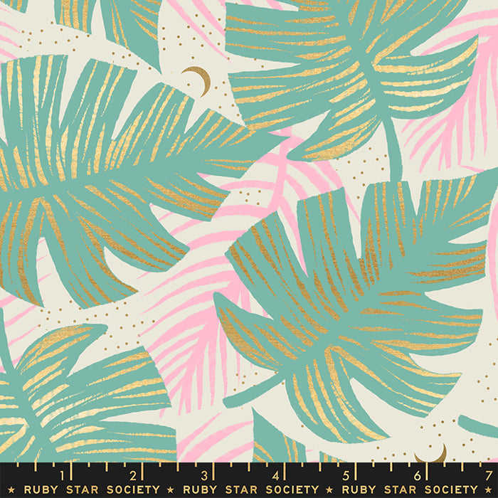 Florida Shade Palms by Ruby Star Society in Metallic Water