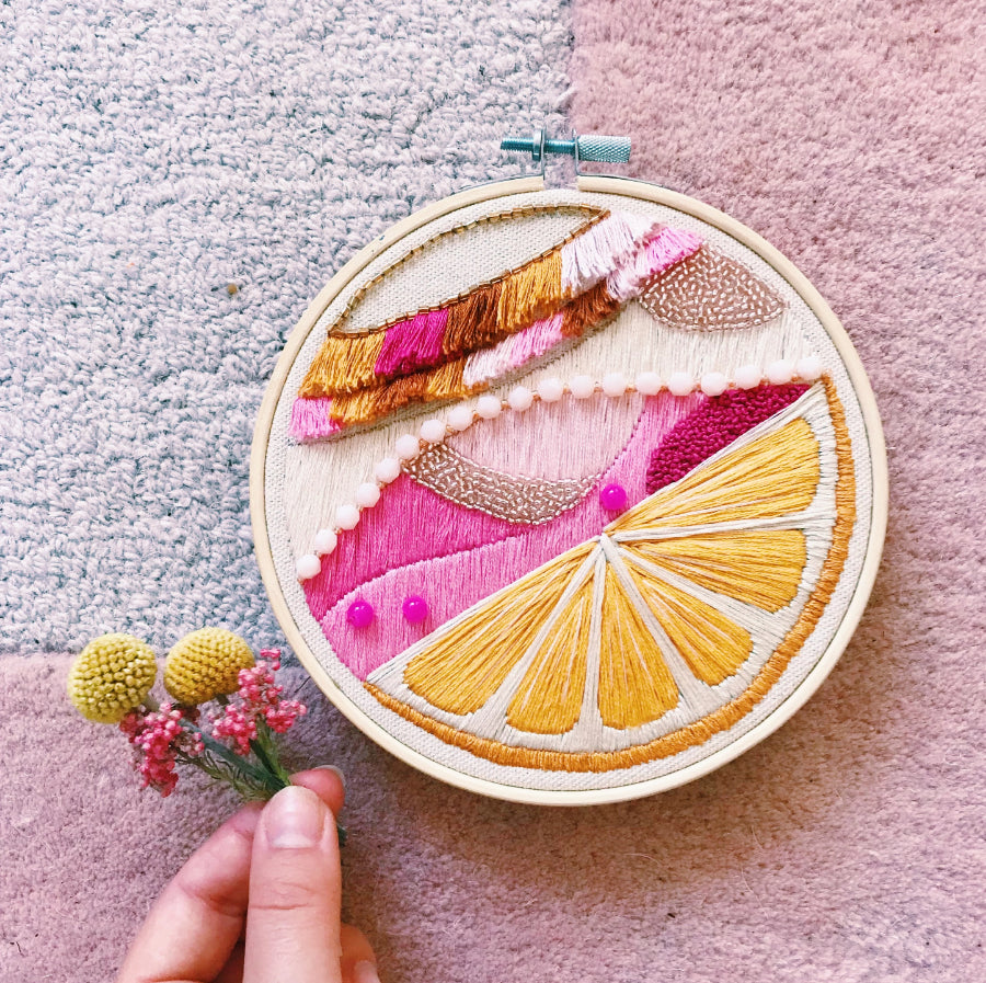 modern embroidery by meg rosko/ nutmeg and honeybee