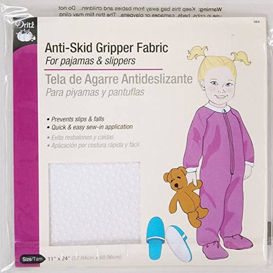 Anti-Skid Gripper Fabric in White