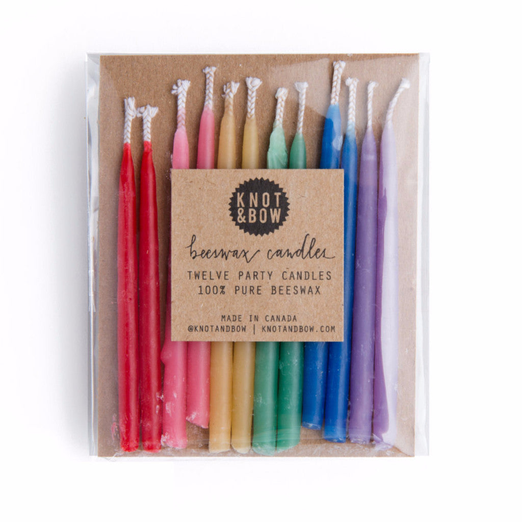 Rainbow Beeswax Party Candles